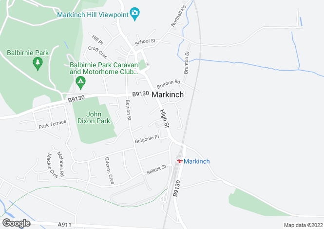 Map for High Street, Markinch, Glenrothes KY7