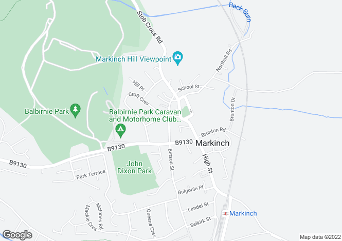 Map for Commercial Street, Markinch, Glenrothes, Fife