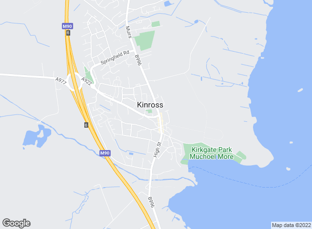 Map for Andersons Solicitors, Kinross