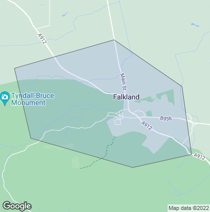 Map of property in Falkland