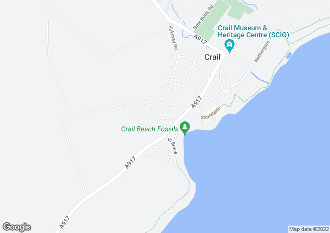 Map for TEMPLE CRESCENT, CRAIL, FIFE