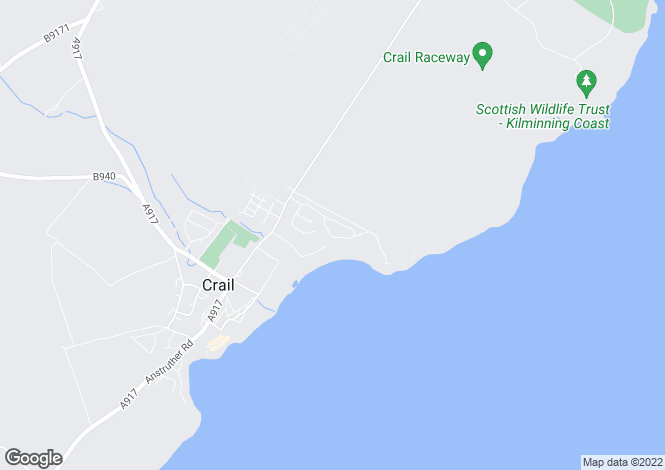 Map for Sauchope Crescent, Crail, Fife