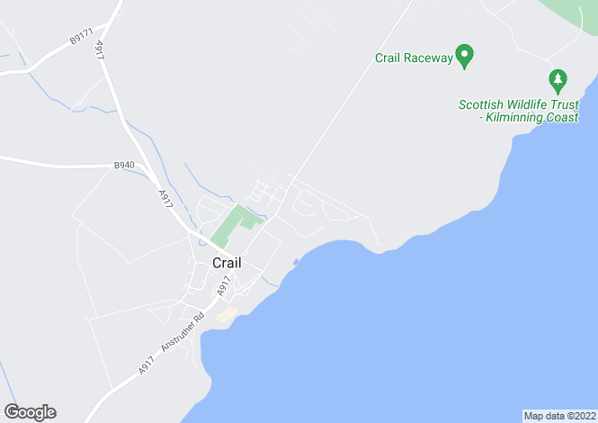 Map for 8, Langhouse Green, Crail