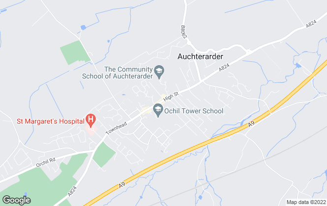 Map for YOUR MOVE Lettings, Auchterarder - Lettings
