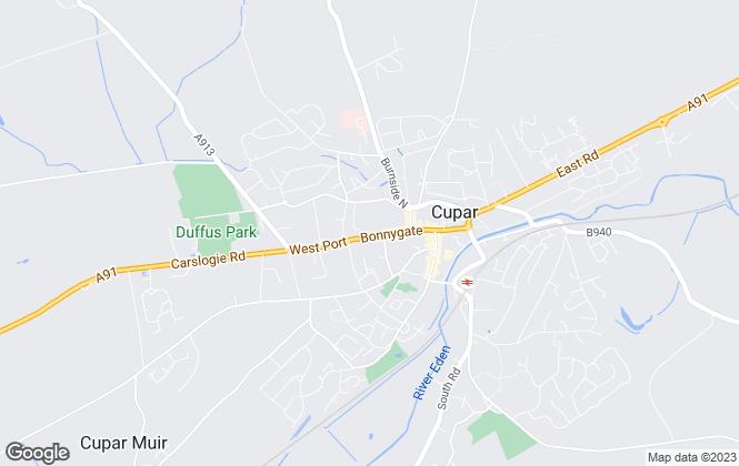 Map for Fife Properties, Cupar