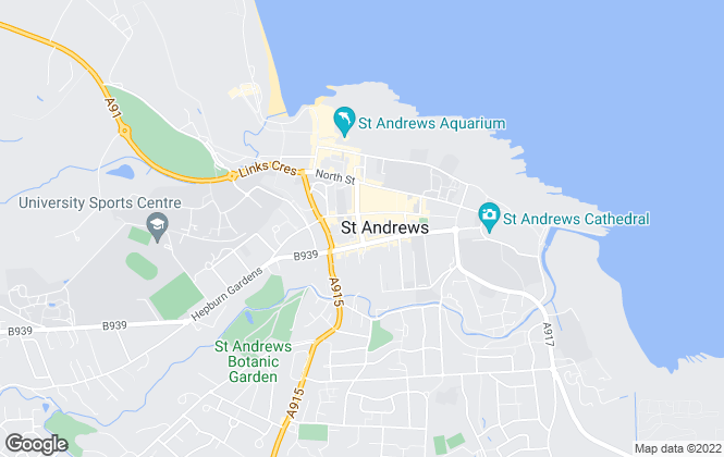 Map for Thorntons Property Services, St. Andrews