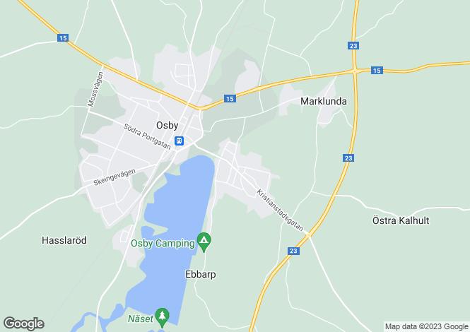 Map for Skåne, Osby