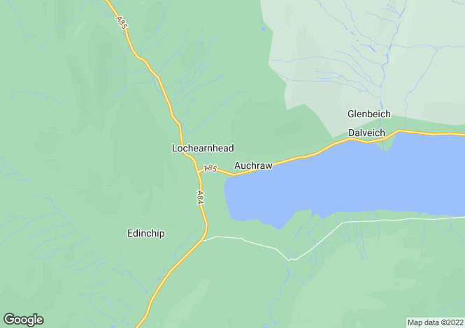 Map for Cedar View, Lochearnhead, Perthshire