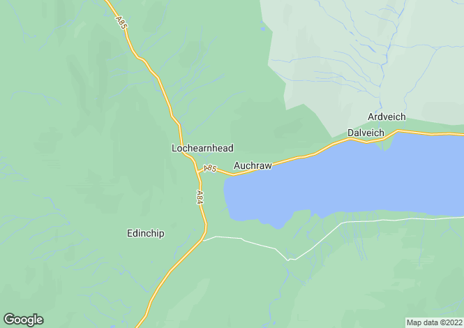 Map for Cedar View & Glenample View, The Whole, Lochearnhead, Perthshire