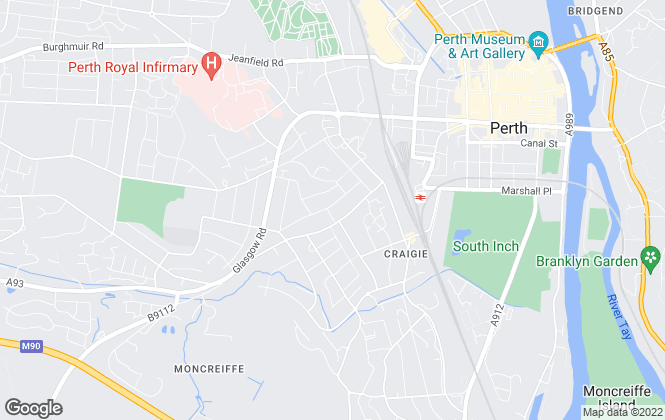 Map for Possible Estate Agents, Perth