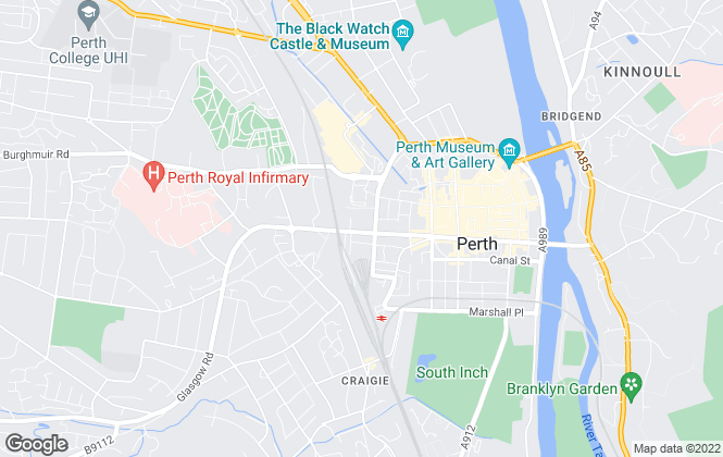 Map for Savills, Perth