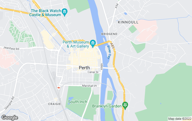 Map for Strutt & Parker, Perth