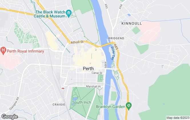 Map for Aberdein Considine, Perth