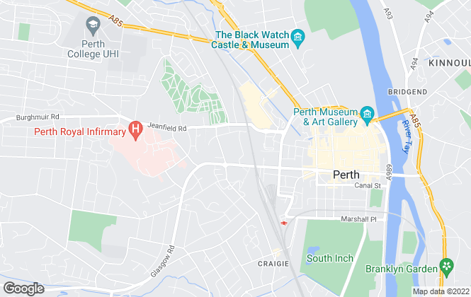 Map for Thorntons Property Services, Perth