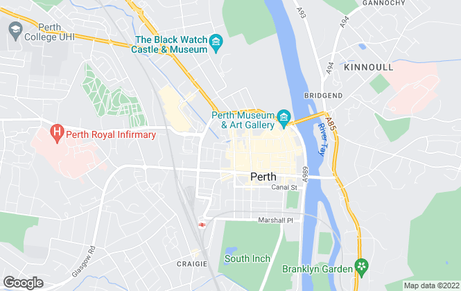 Map for McCash and Hunter, Perth