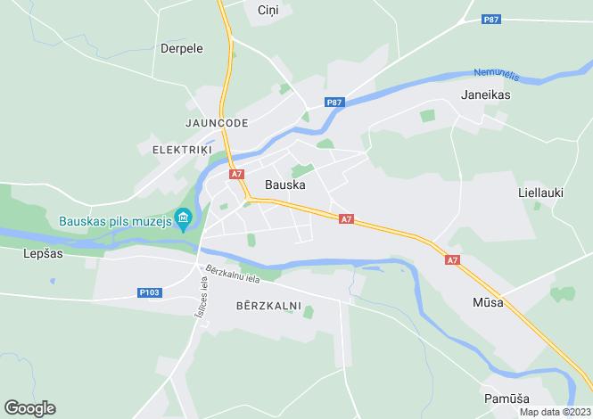 Map for Bauska, Bauska