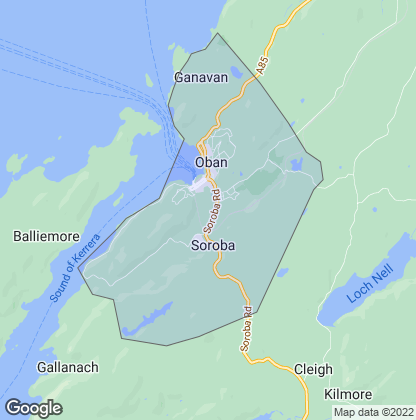 Map of property in Oban