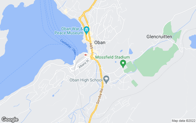 Map for West Property, Oban