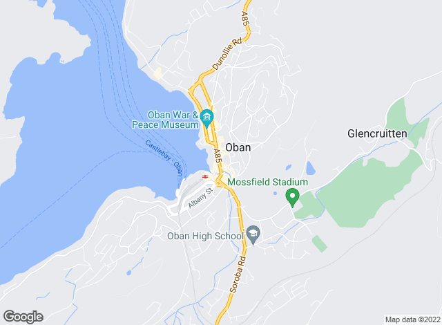 Map for MacPhee and Partners, Oban