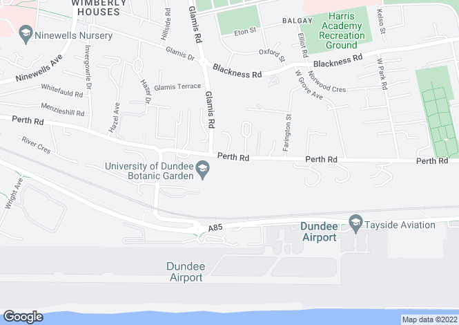 Map for Perth Road, Dundee DD2