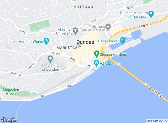 Map for Thorntons Property Services, Dundee