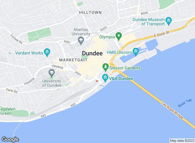 Map for YOUR MOVE, Dundee