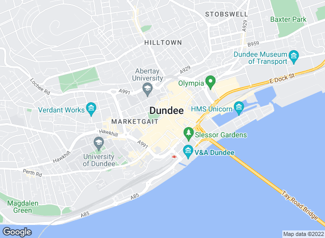 Map for Blackadders LLP, Dundee