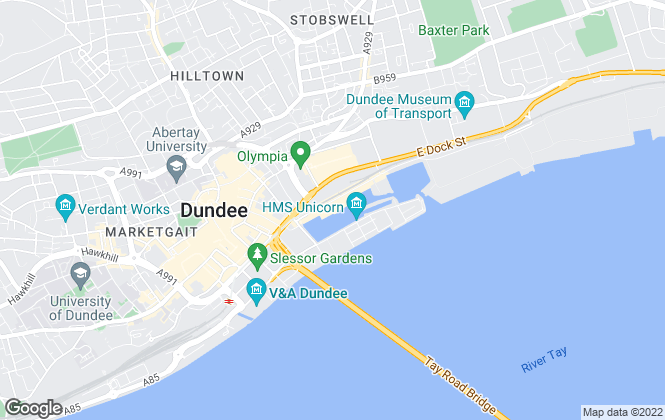 Map for DM Hall , Dundee