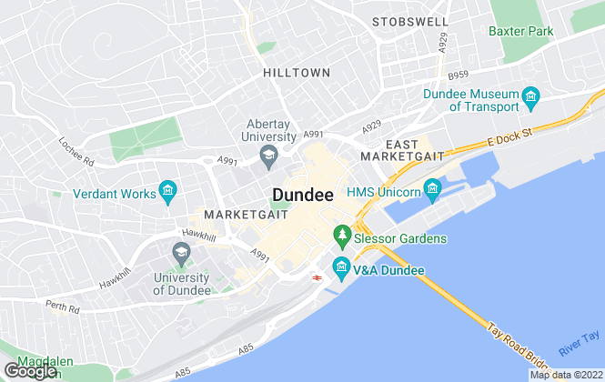 Map for Purplebricks, covering Dundee