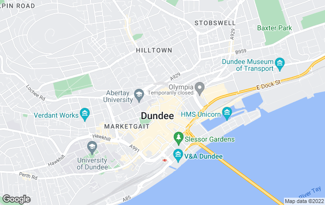 Map for Northwood (Dundee) Ltd, Dundee