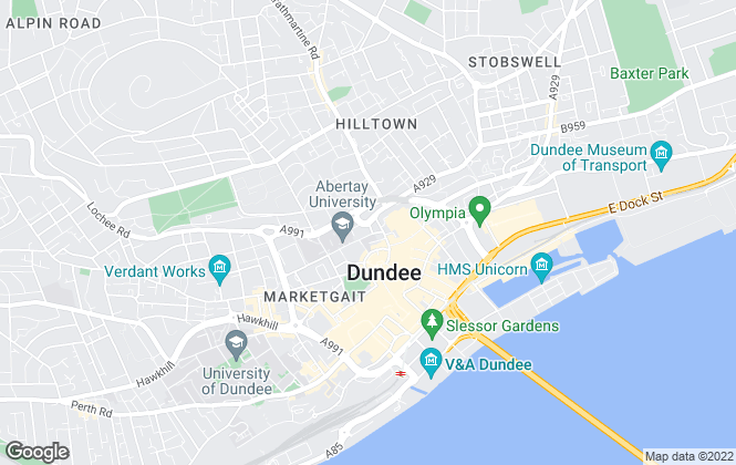 Map for Pavillion Properties, Dundee