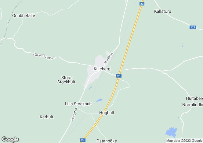 Map for Skåne, Killeberg