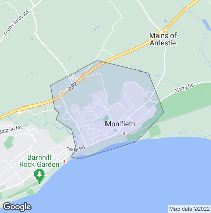 Map of property in Monifieth