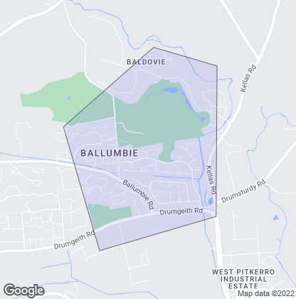 Map of property in Ballumbie