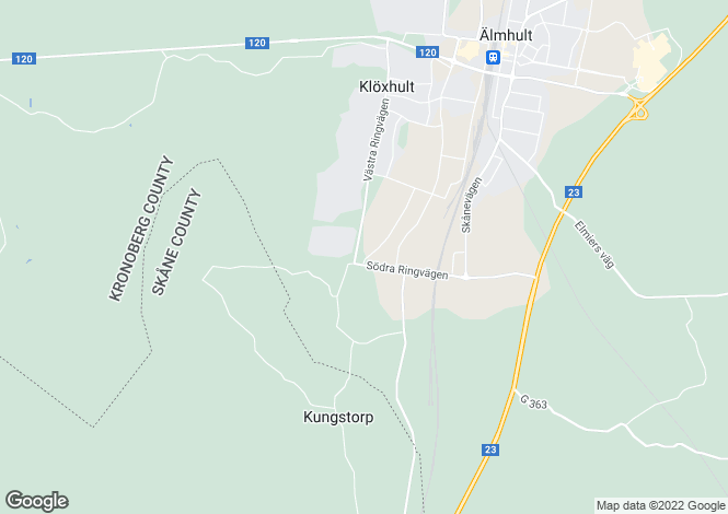 Map for Kronoberg, Älmhult