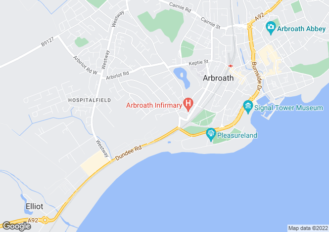 Map for Monkbarns Drive, Arbroath