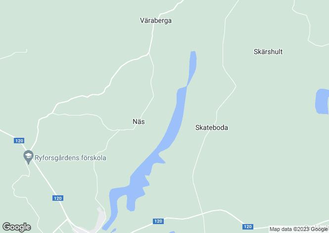 Map for Kronoberg, Delary