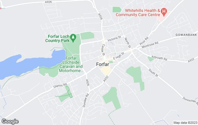 Map for Direct Lettings (Scotland) Ltd, Forfar