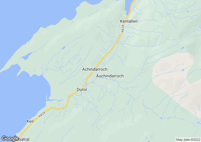 Map for Letterdrian, Duror, Appin