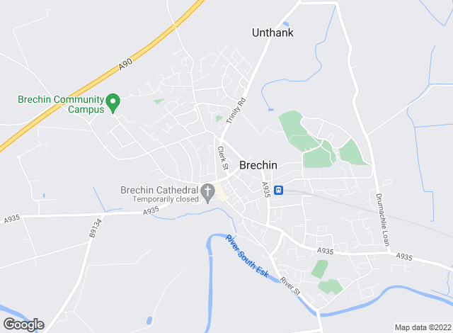 Map for Savills, Brechin