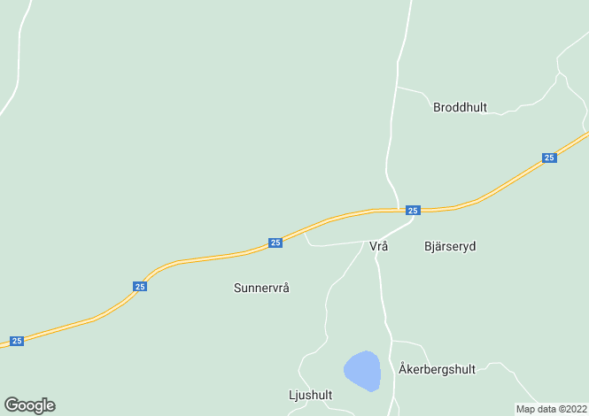 Map for Kronoberg, Lidhult