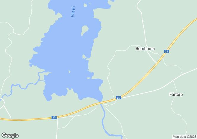 Map for Kronoberg, Ljungby