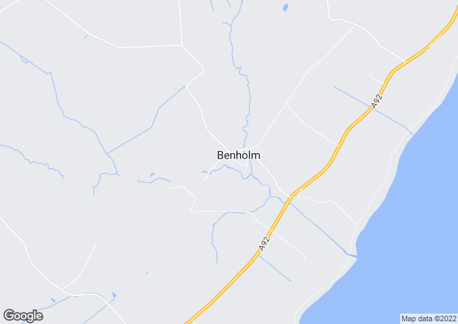 Map for The Old Manse, Benholm, Kincardineshire, DD10 0HT
