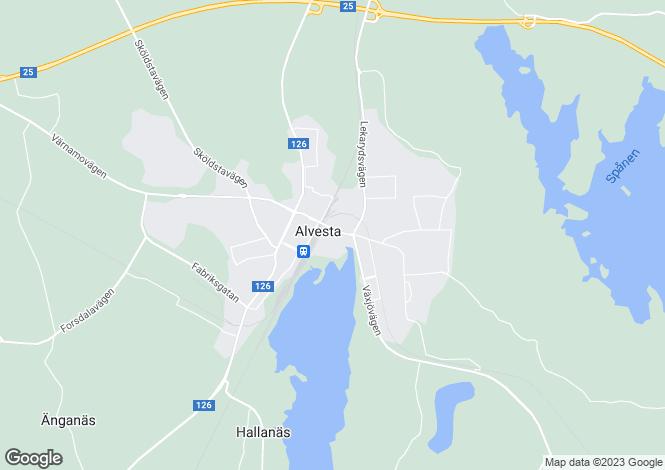 Map for Alvesta, Kronoberg