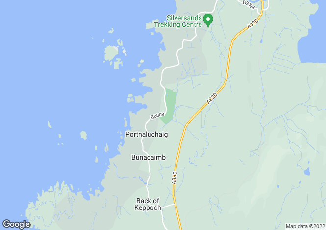 Map for Arisaig,