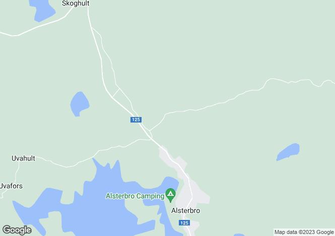 Map for Kalmar, Alsterbro