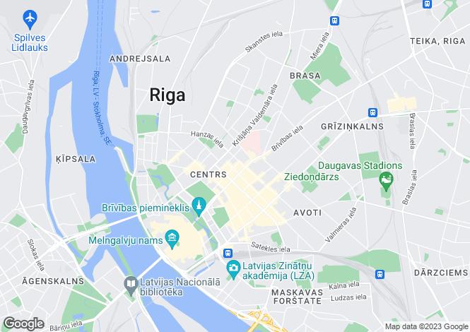 Map for Riga (City District), Riga