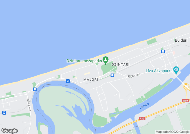 Map for Jurmala, Jurmala (City District)