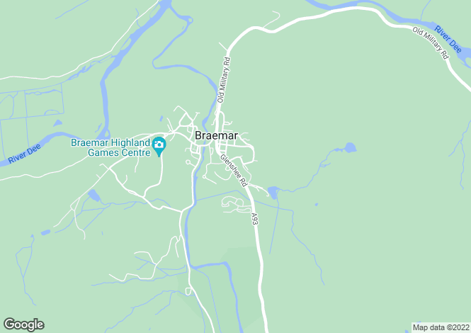 Map for Clunie at Middleton of Canmore, Glenshee Road,