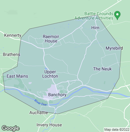 Map of property in Banchory